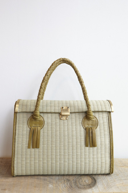 Eatable of Many Orders Tatami Handbag in Green