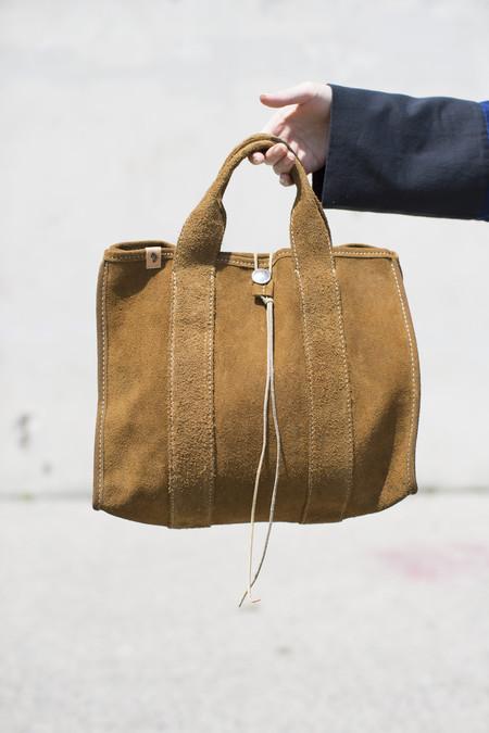 Visvim Teton Tote Bag in Brown Suede