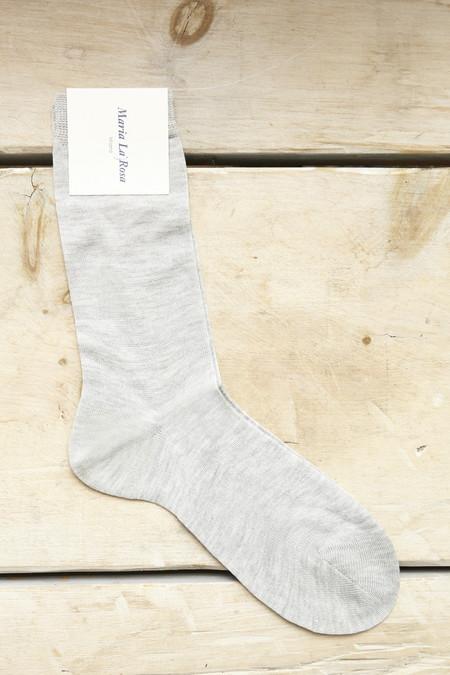 Maria La Rosa Trouser Socks in Perla Grey