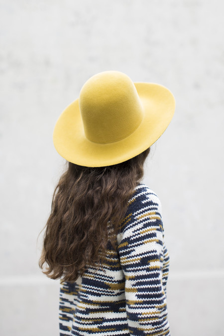 Clyde Wide Brim Dome Hat in Vienna Yellow