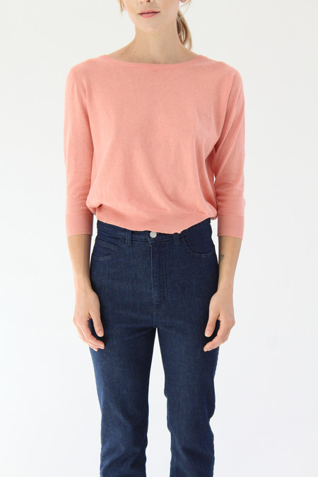 Beklina Cotton 3/4 Sleeve Knit Top Shrimp
