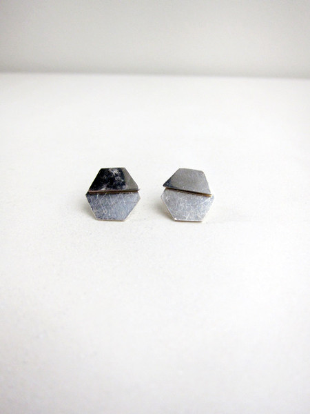 Kat Seale 2-Part Earrings Hexagons