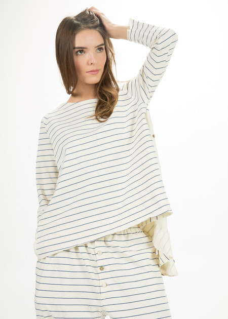 Pero Long Sleeve Stripe Top