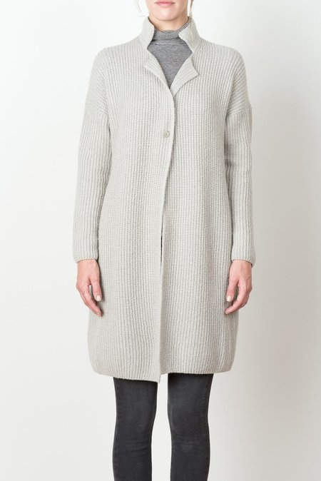Evam Eva Wool Cashmere Coat In Grey