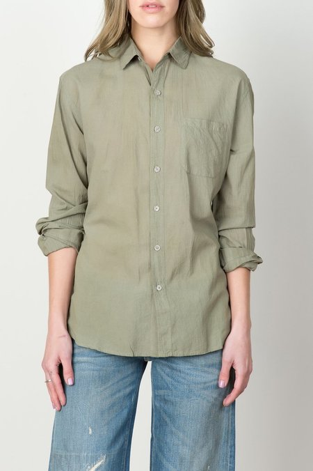 IOAN L/S Madras Shirt In Desert Green