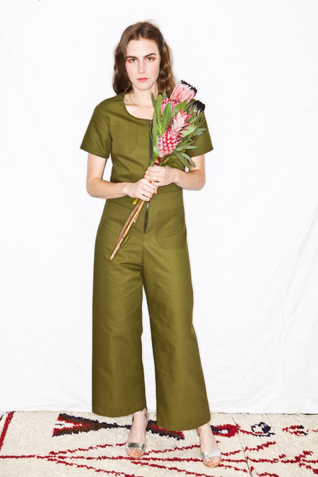 Lykke Wullf Joan Jumpsuit Army Canvas