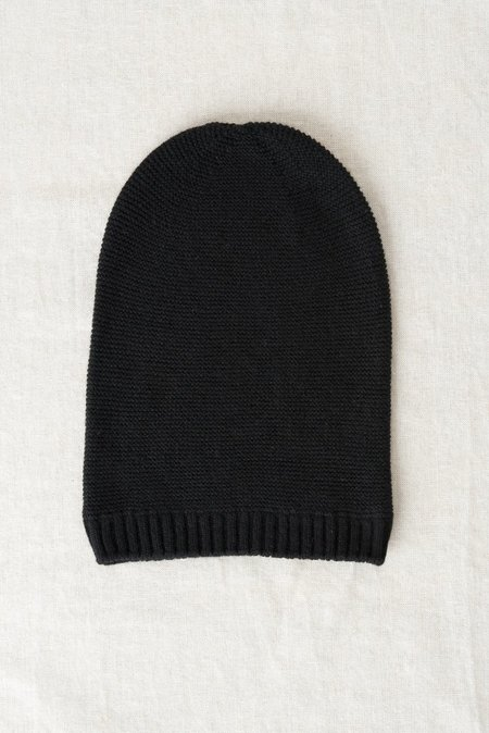 Grei Cashmere Beanie In Black