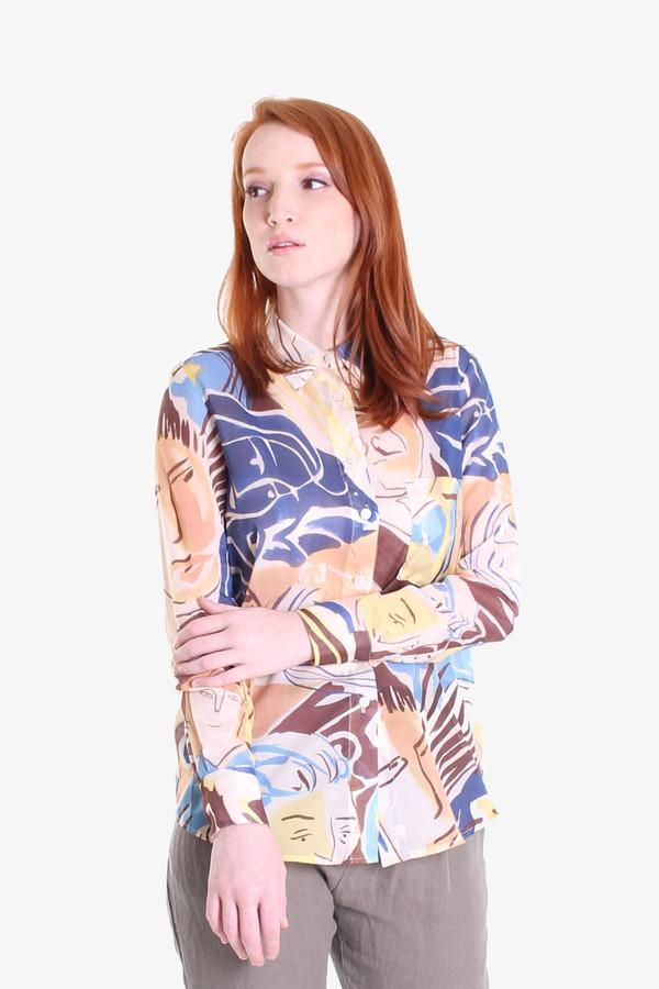 Rachel Comey Mens-y shirt in faces print