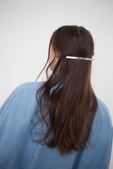 Sylvain le Hen Fine Hair Barrette 021 in Silver