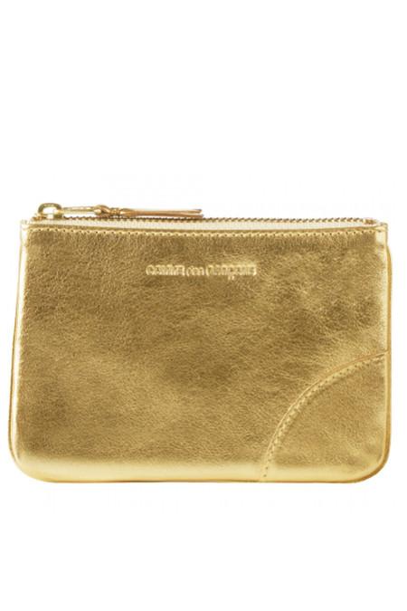 Comme des Garçons Leather SA-8100G Zip Pouch - Gold