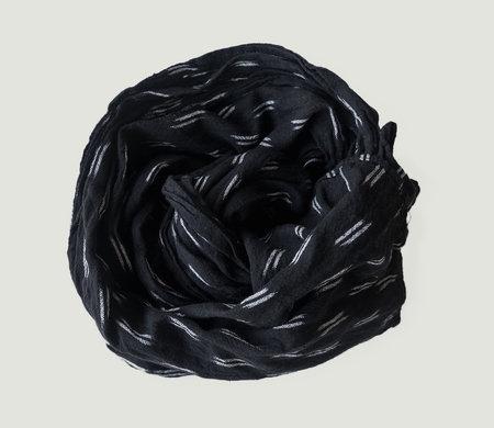 Espy Black Ikat Scarf