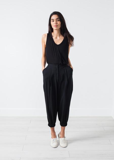 Amelia Toro Fancy Wool Pant in Black