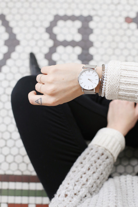 PIPERWEST Mesh Minimalist Watch in Silver