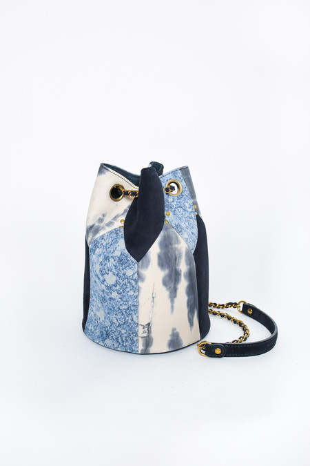 Jerome Dreyfuss Popeye Bucket Bag in Caviar Tie Dye