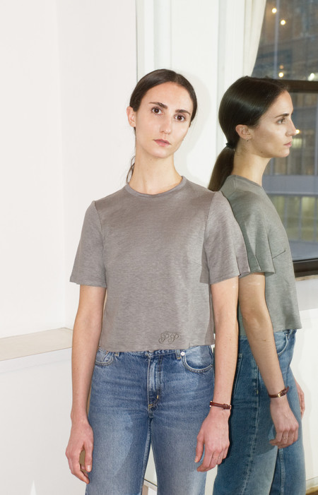 UNIFORME Planned Parenthood Andersen Tee - Anthracite Luxe Organic Linen
