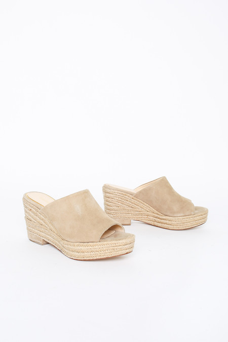 Paloma Barcelo Open Toe Mule in Taupe