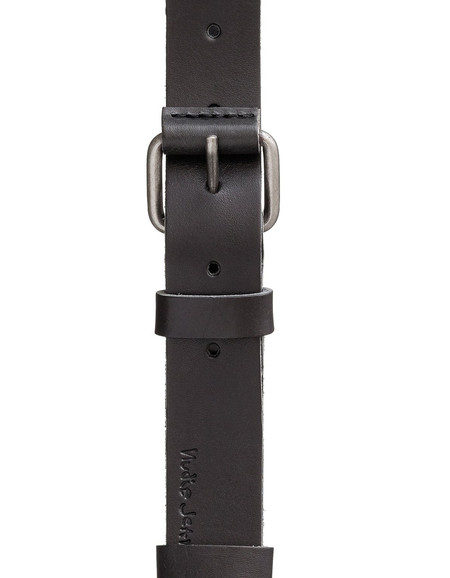 Nudie Wayne Leather Belt Black