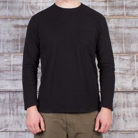 Jungmaven Baja 10oz LS Pocket T-Shirt - Jet Black