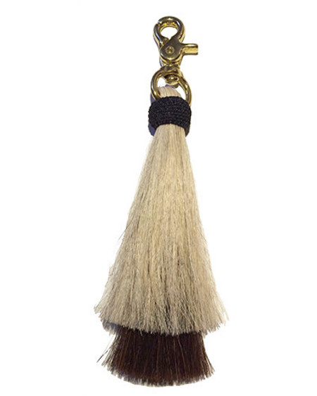 Oliveve blonde/brown double bell horse hair tassel on brass clip