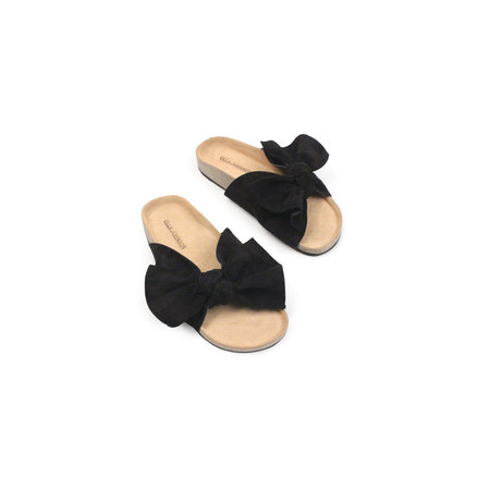 Ulla Johnson Ingrid Slide in Black Suede