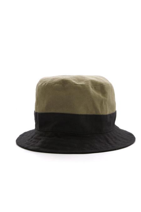 Tsuyumi The Drops Colorblock Hat Olive Black