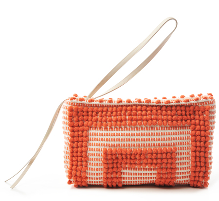 Antonello Orange Tula Clutch Bag