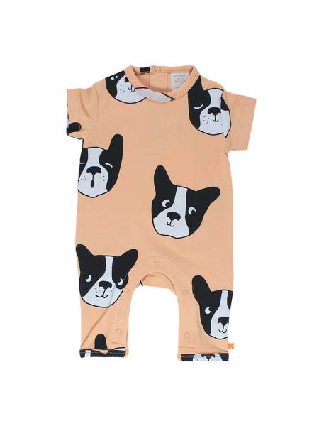 Kid's Tiny Cottons MOUJIK FACES ONEPIECE - NUDE