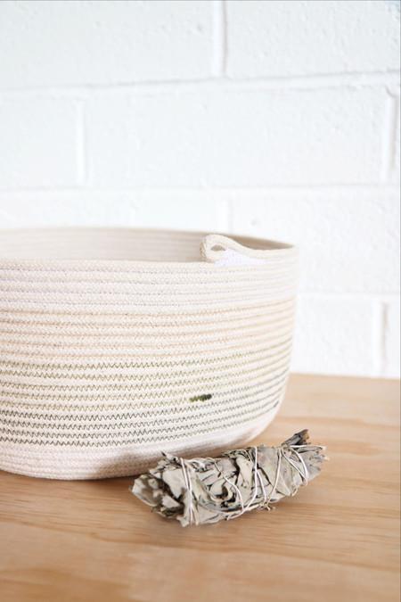 Prairie St Mercantile Rope Basket in Olive