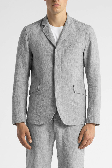 Wings + Horns Washed Linen Blazer | Ash Grey