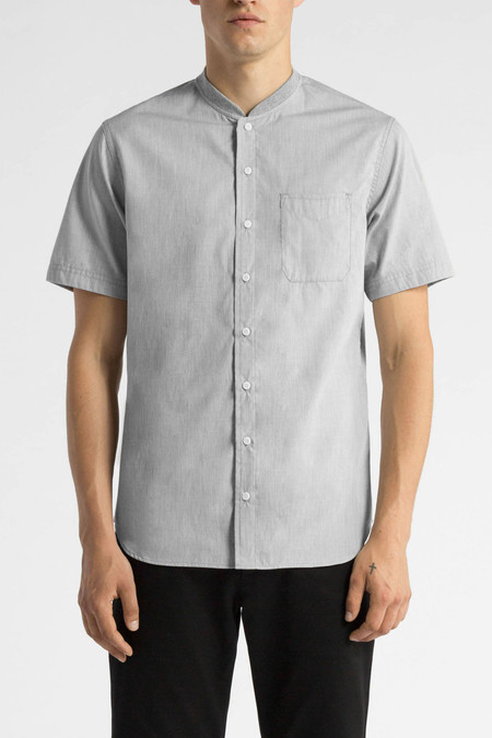 Wings + Horns Woven Short Sleeve Service | Grey