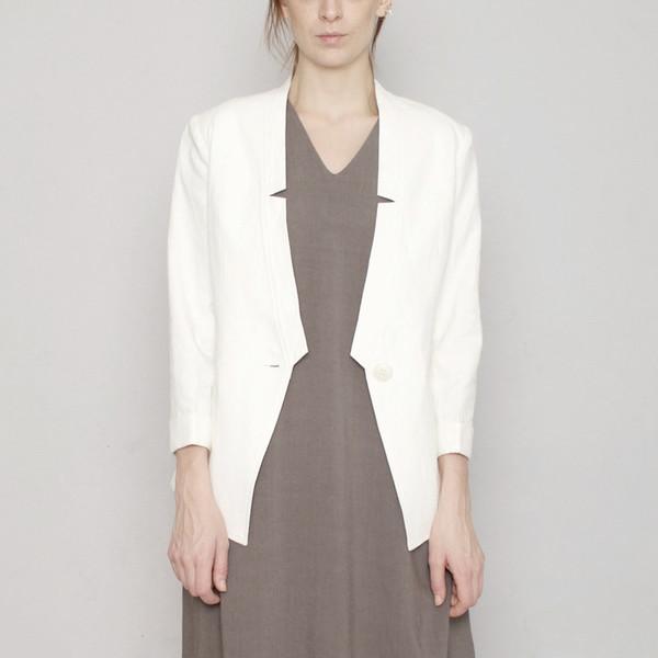 7115 by Szeki Deconstructed Blazer R16- White