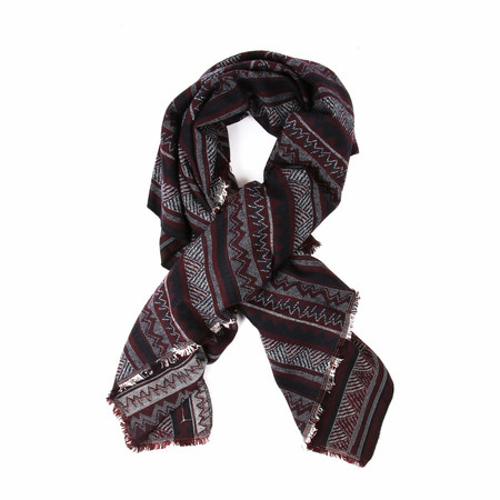 Unisex Muttonhead FOULARD COUVERTURE BOURGOGNE / BURGUNDY BLANKET SCARF