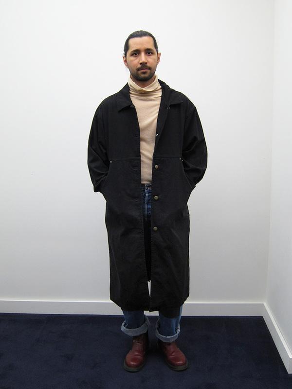 69 Simple Coat, Black