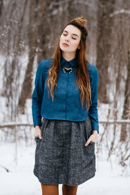 Meemoza Wool Stone Skirt