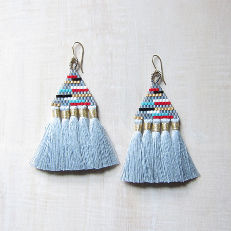 Bluma Project Talitha earrings - gray