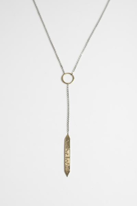 Covet + Keep maggie brass and silver necklace