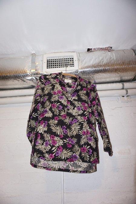 Unisex ZED linen floral pull over shirt
