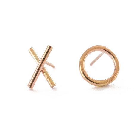 Favor XO Post Earrings