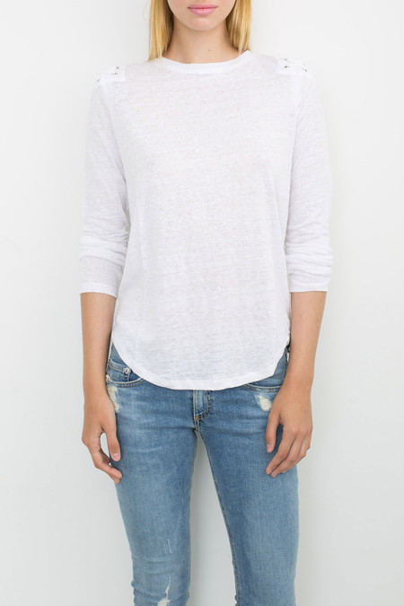 Generation Love Patti Lace Up Top | White