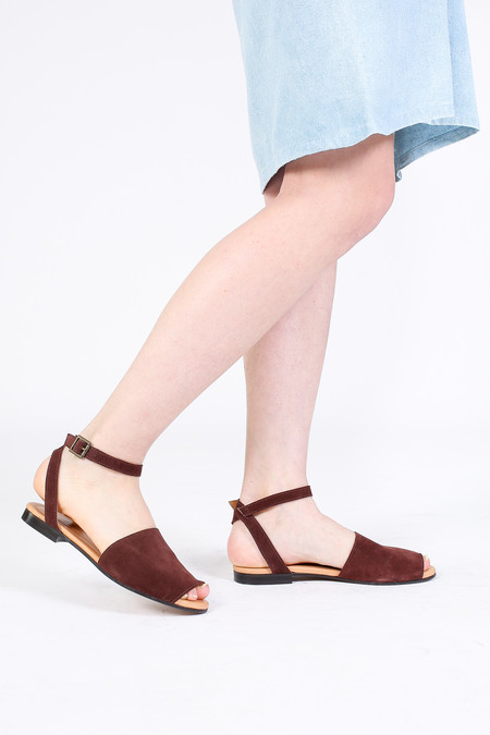 Zespa Wrap Ankle Strap Sandal in Cocoa