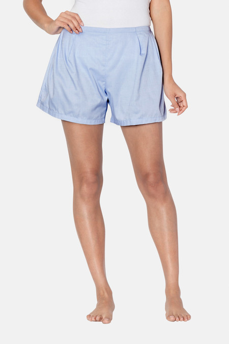 The Sleep Shirt Pleat Short Cambridge Oxford