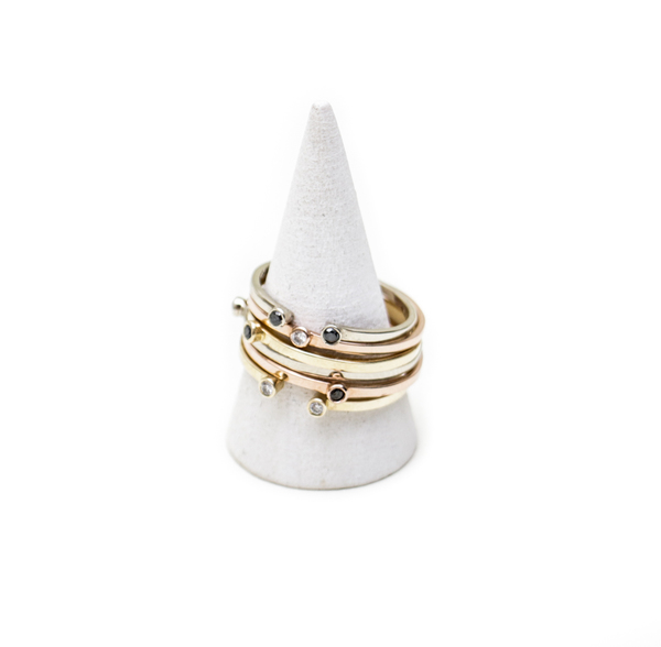 Gabriela Artigas Double White Diamond Ring in White Gold