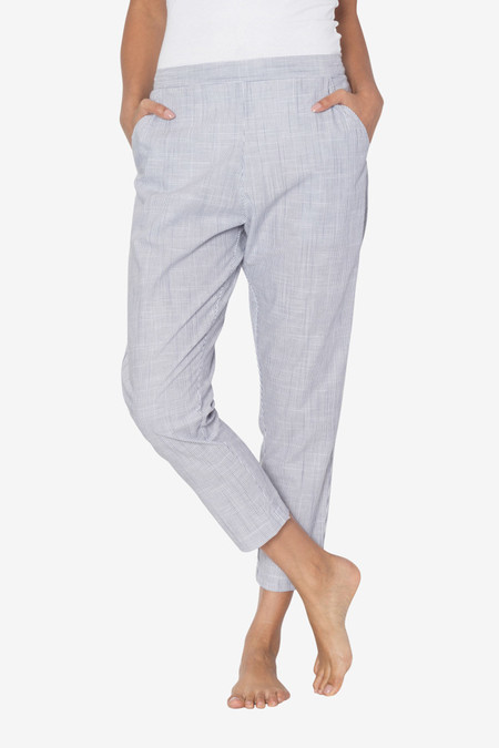 The Sleep Shirt Tapered Pant Navy Pinstripe