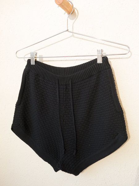 Giu Giu Brick Stitch Short in Onyx