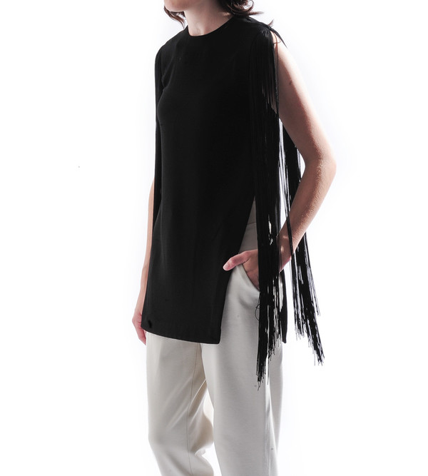 NOMIA Split Seam Tunic with Fringe