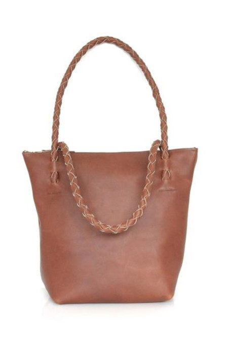 ARA Handbags Zipper Tote No.1 (Tobacco Oil Tanned)