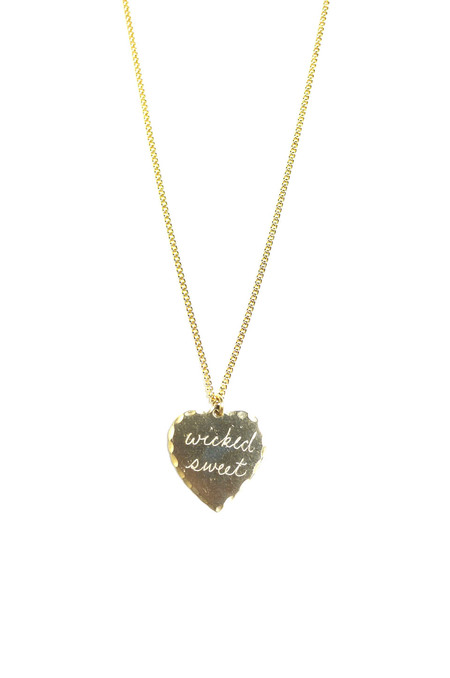 "In God We Trust Sweet Nothing Necklace 24"" - Wicked Sweet"