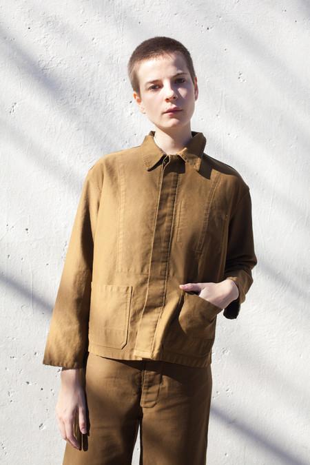 Caron Callahan Krasner Jacket in Cognac Twill
