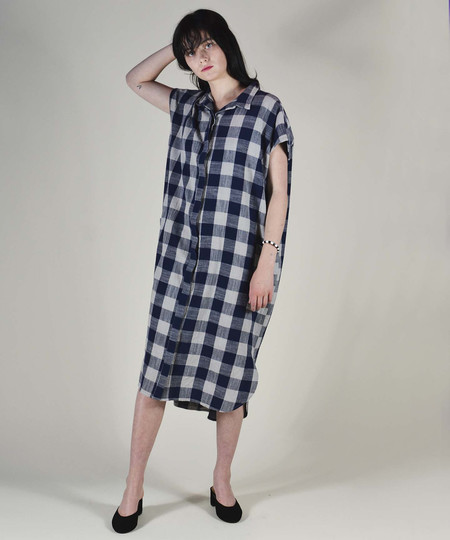 Esby Blue Sky Plaid Darby Dress