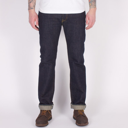 Iron Heart IH-666S-21 - 21oz Slim Straight One Wash Indigo Selvedge Jeans